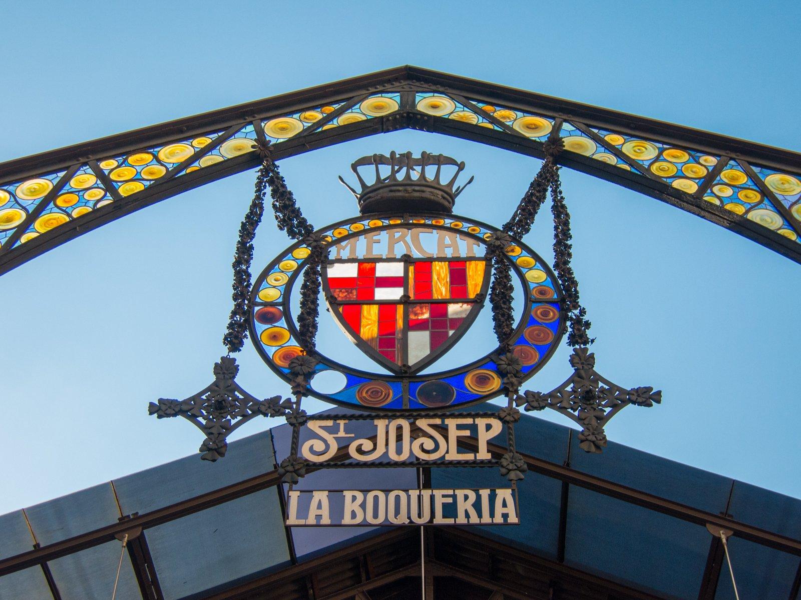 Sign outside La Boqueria