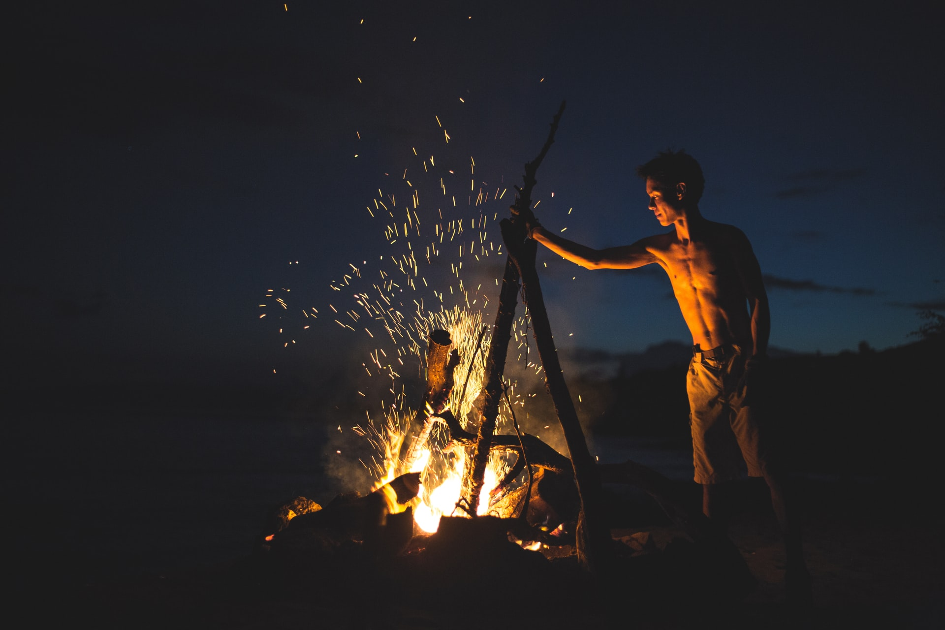 Getting the fire started (photo: Jon Asato)