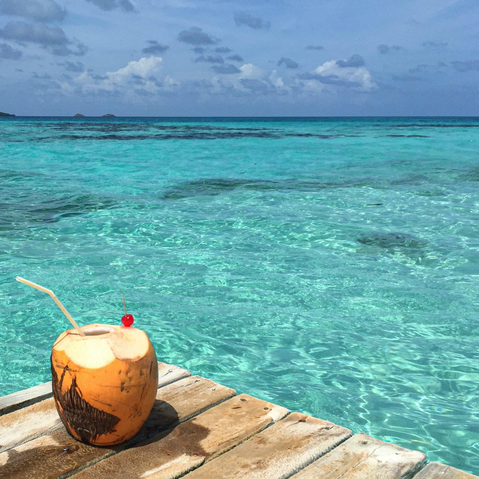 Fresh coconut on Crab Caye