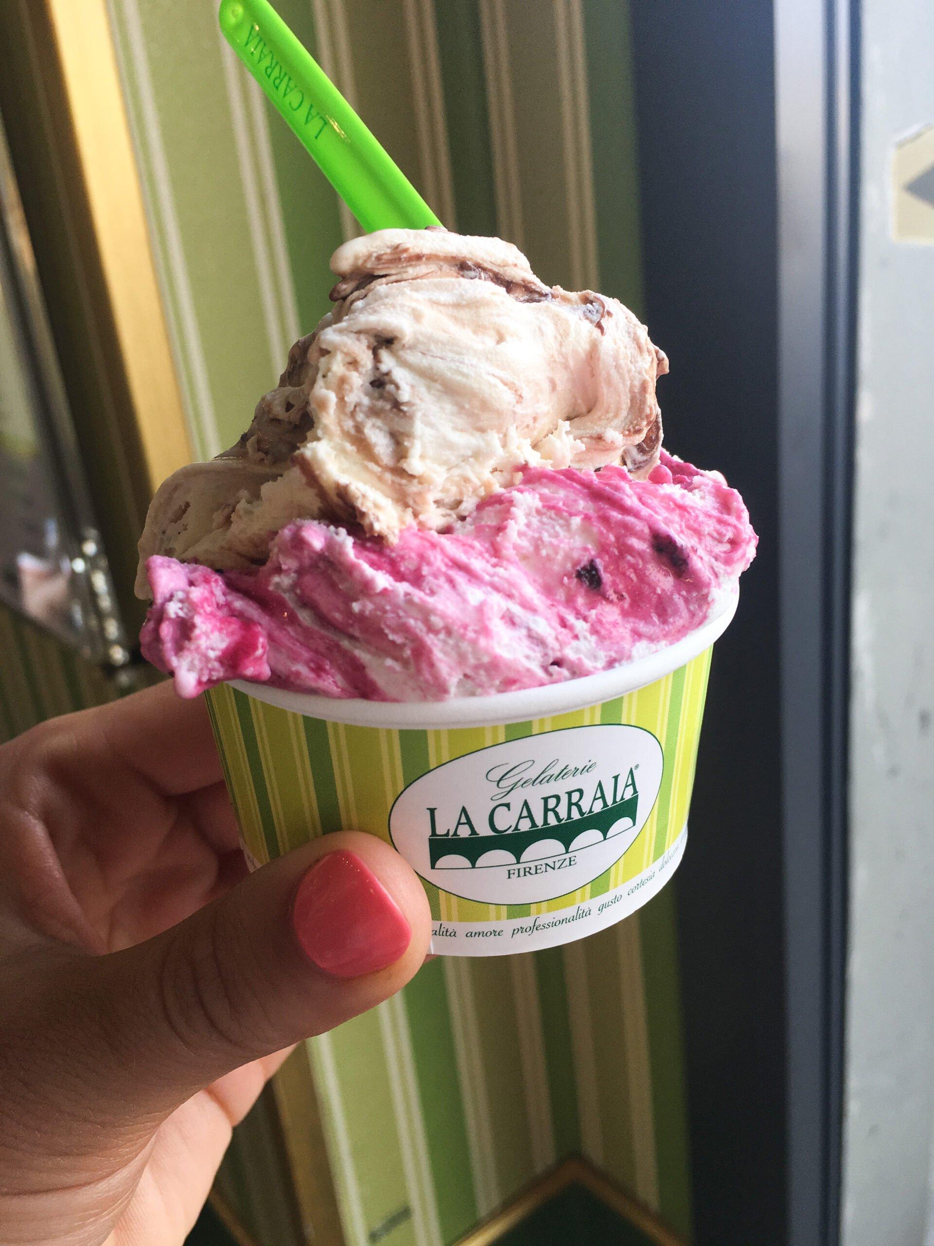 Italian gelato at La Carraia