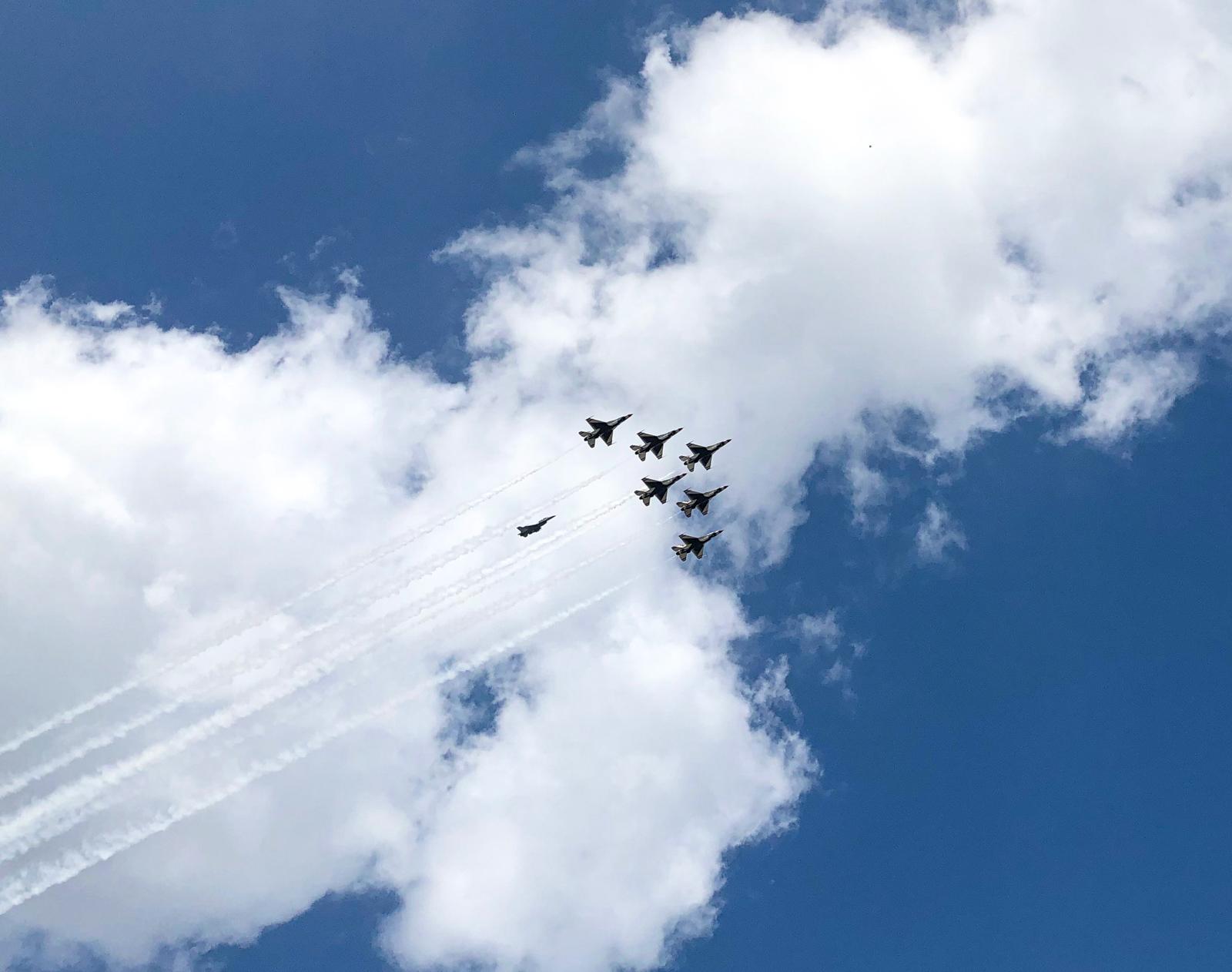 Thunderbirds flyover