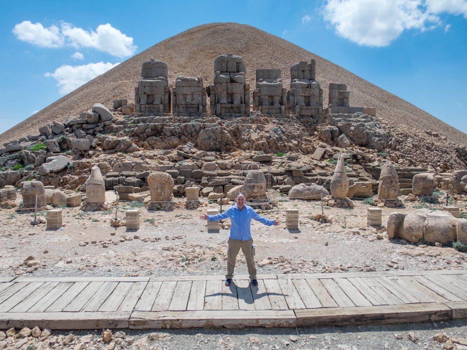 Dave atop Mount Nemrut