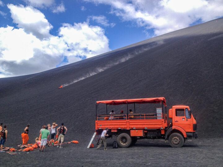 Volcanoboarding in Nicaragua (photo: David Lee)