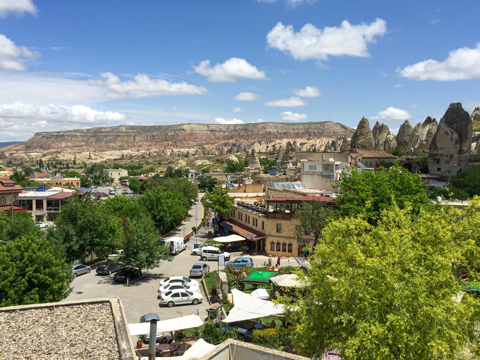 """Aktepe """"White Hill"""" is visible from Cappadocia in central Turkey"""