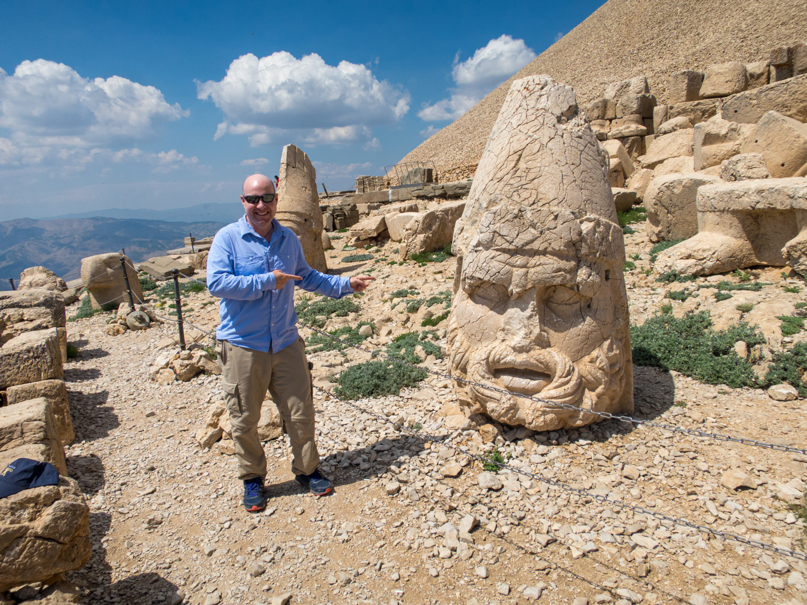 Dave points to the head of Heracles Artagnes Ares