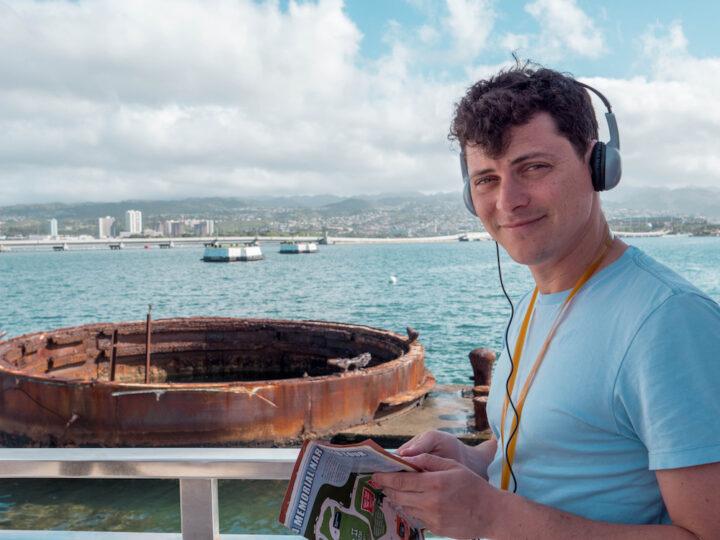 Matt visiting Pearl Harbor