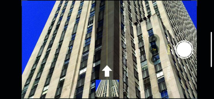 Vertical panorama