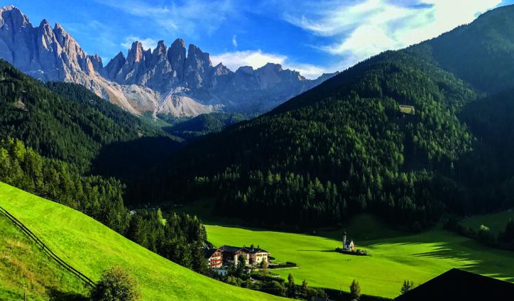 Mountain panorama shot on iPhone