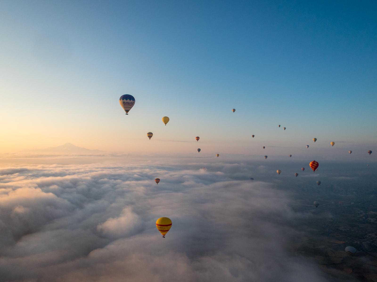 Sunrise balloon ride