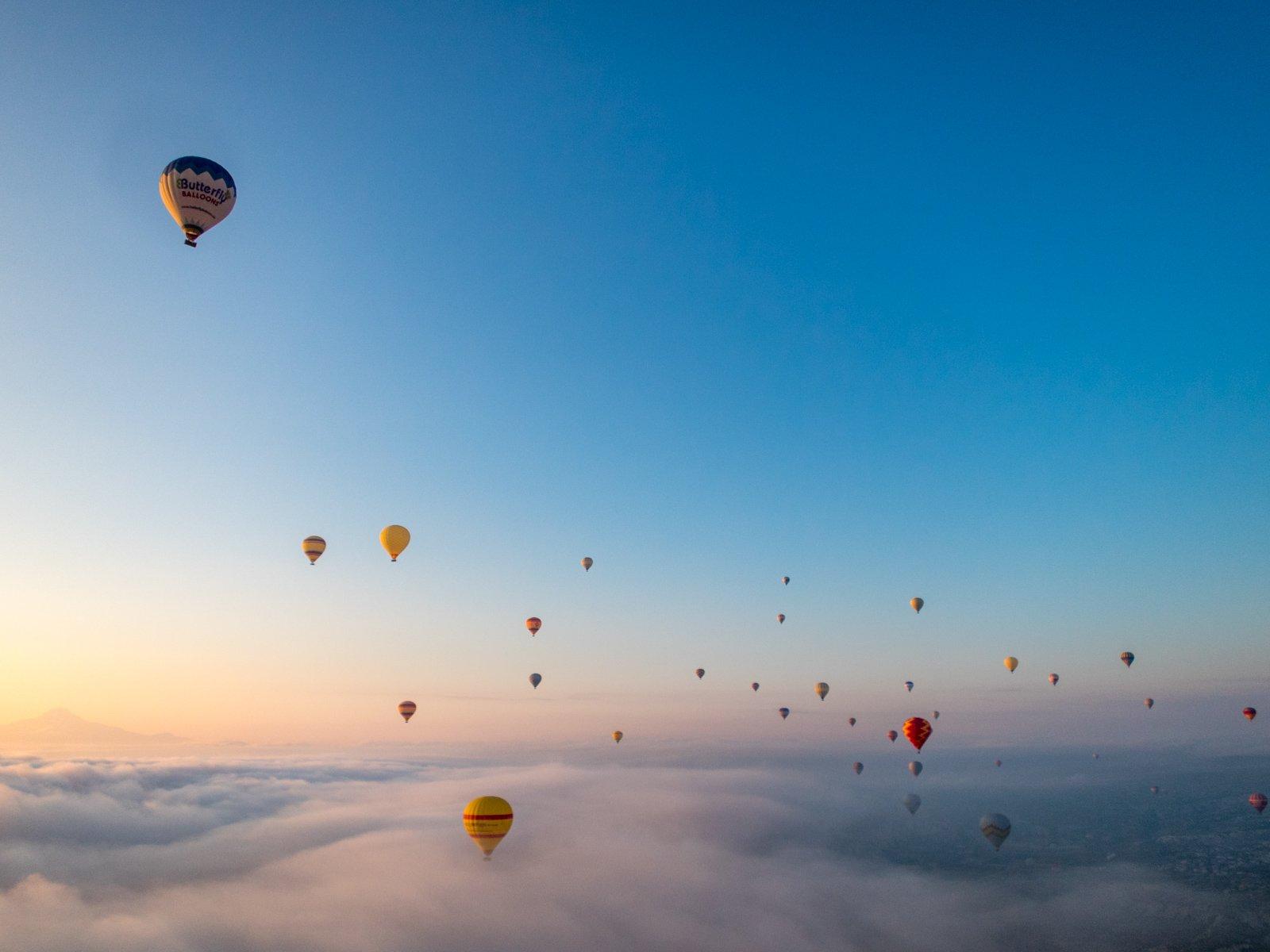 Cappadocia hot air balloon rides at sunrise