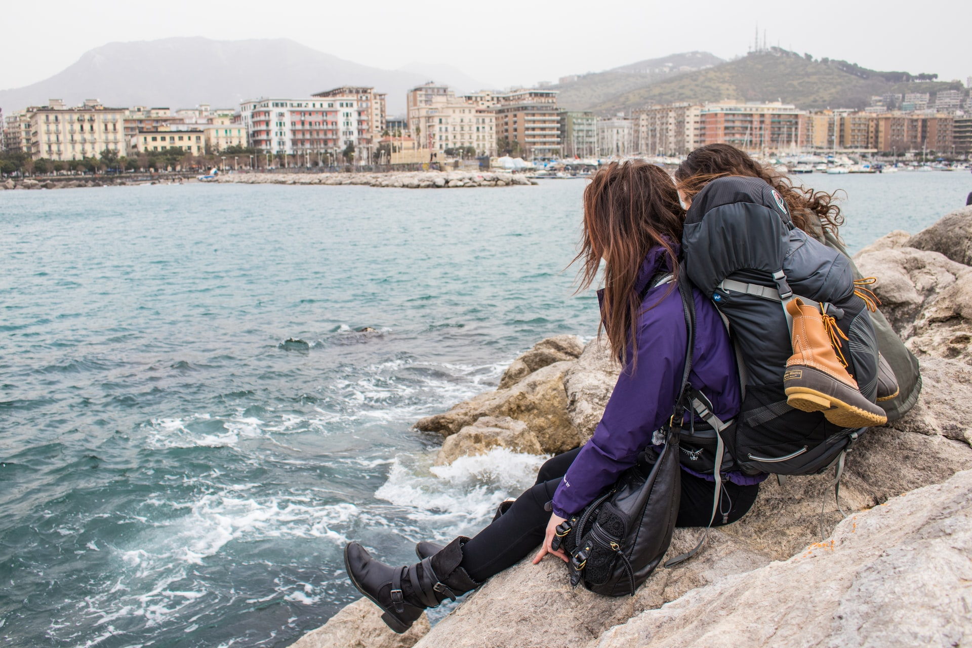Backpackers in Salerno, Italy (photo: Annie Niemaszyk)
