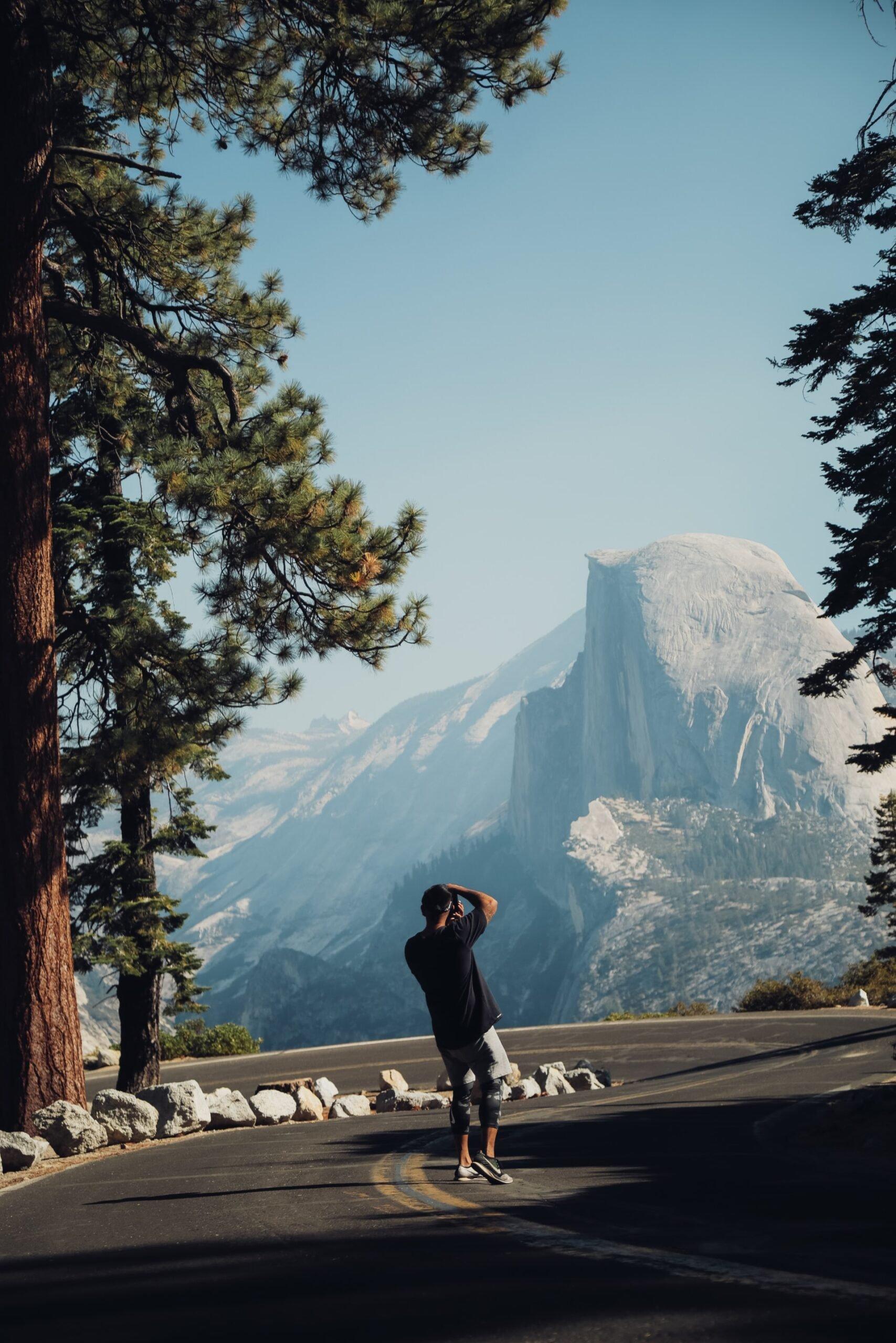 Photographer at Glacier Point (photo: Don B)