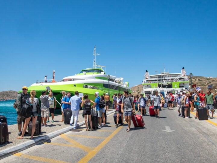 Greek ferries on Ios (photo: Dave Lee)