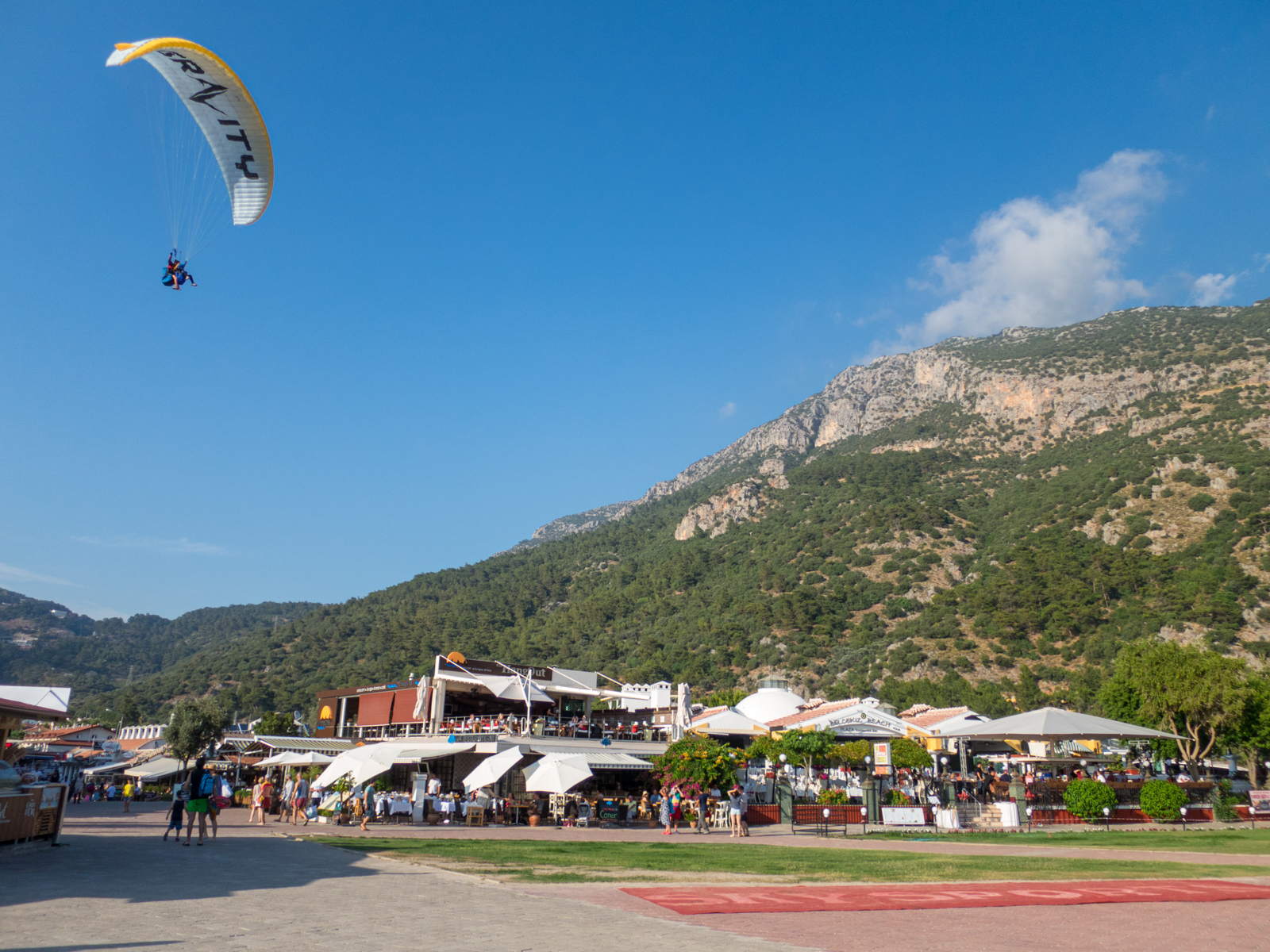 Paraglider coming in to land