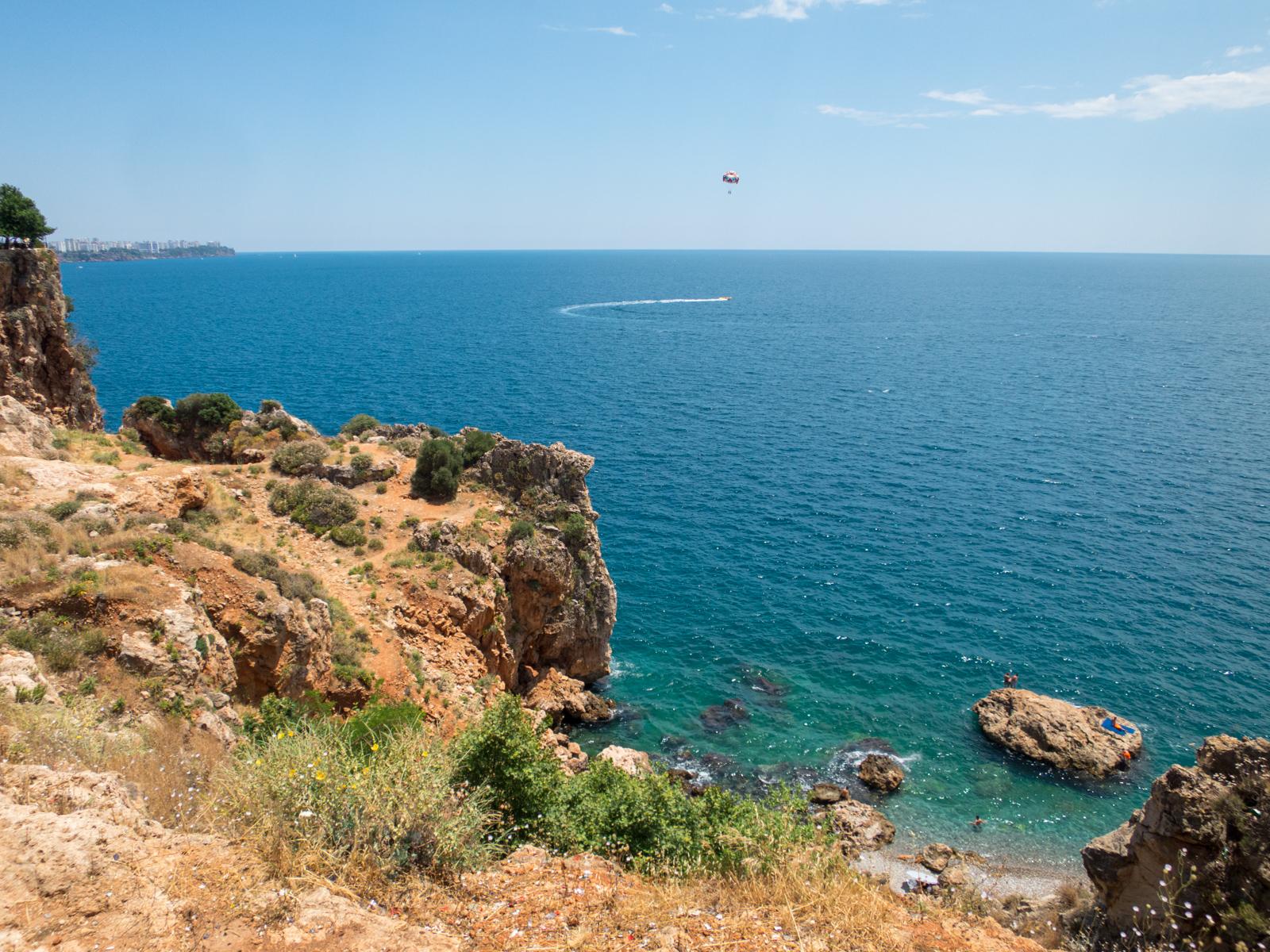 Parasailer off the coast of Antalya