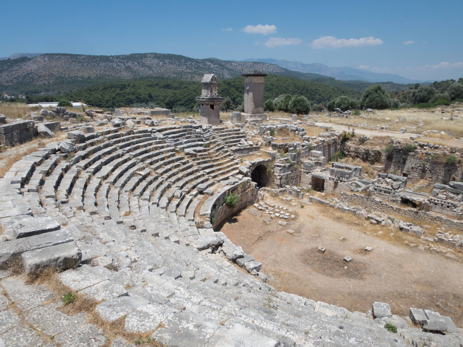 Xanthos amphitheater ruins