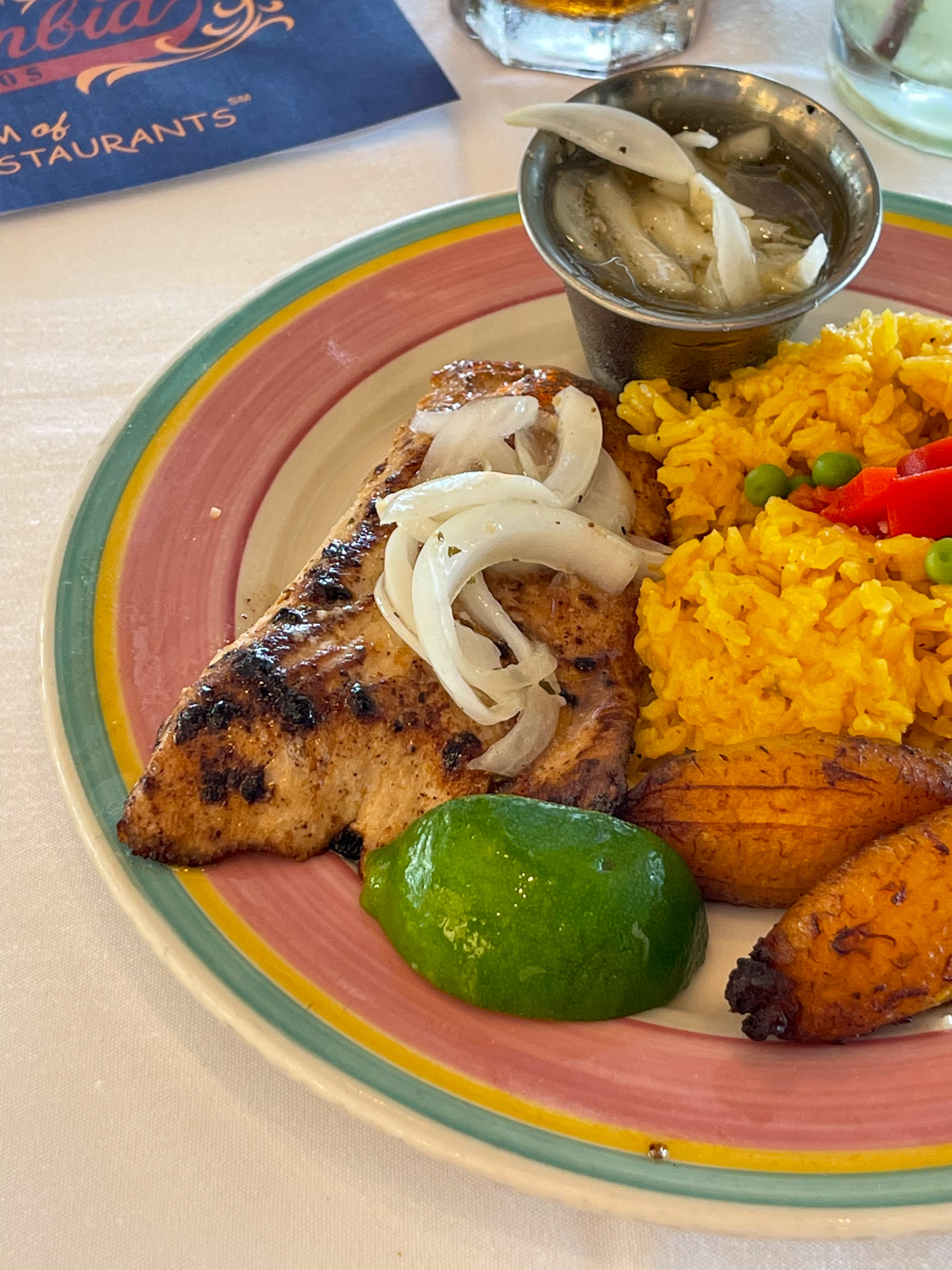 Chicken and plantains at Columbia Restaurant