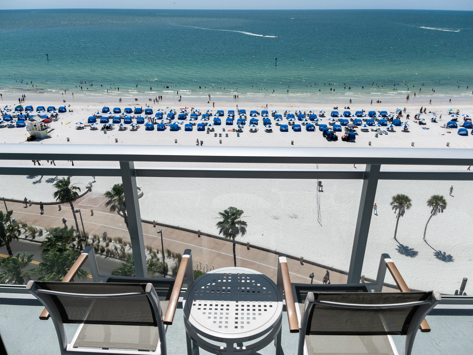 Balcony and Gulf view at Wyndham Grand Clearwater