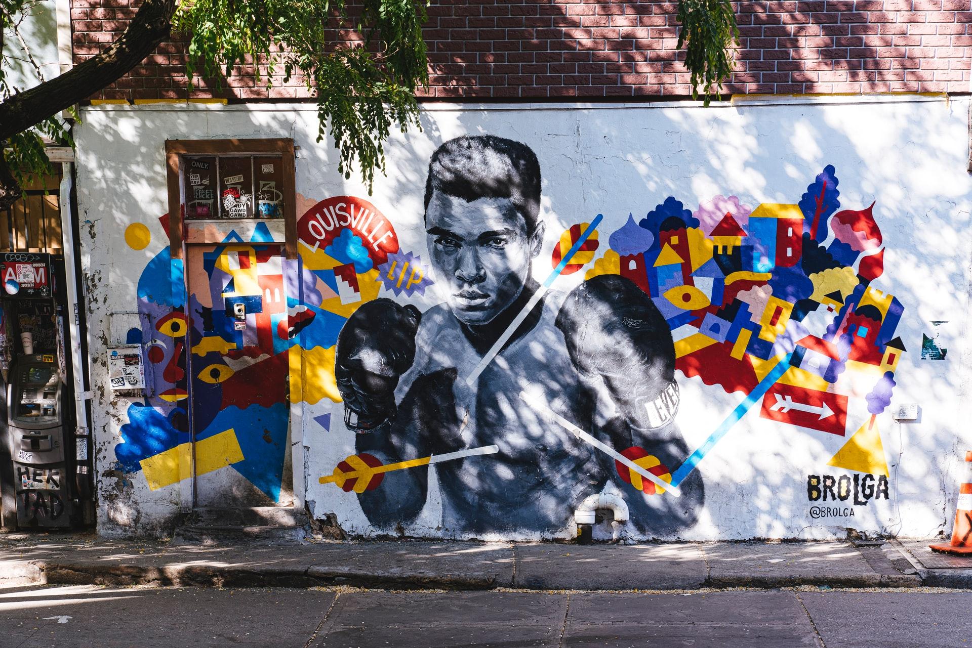Muurschildering (foto: Nelson Ndongala)