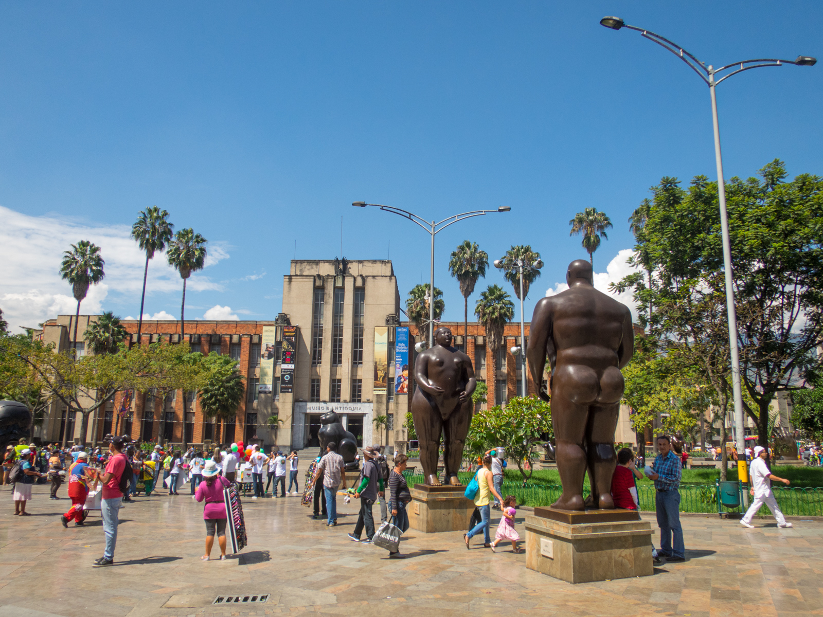 Botero Plaza in downtown Medellin