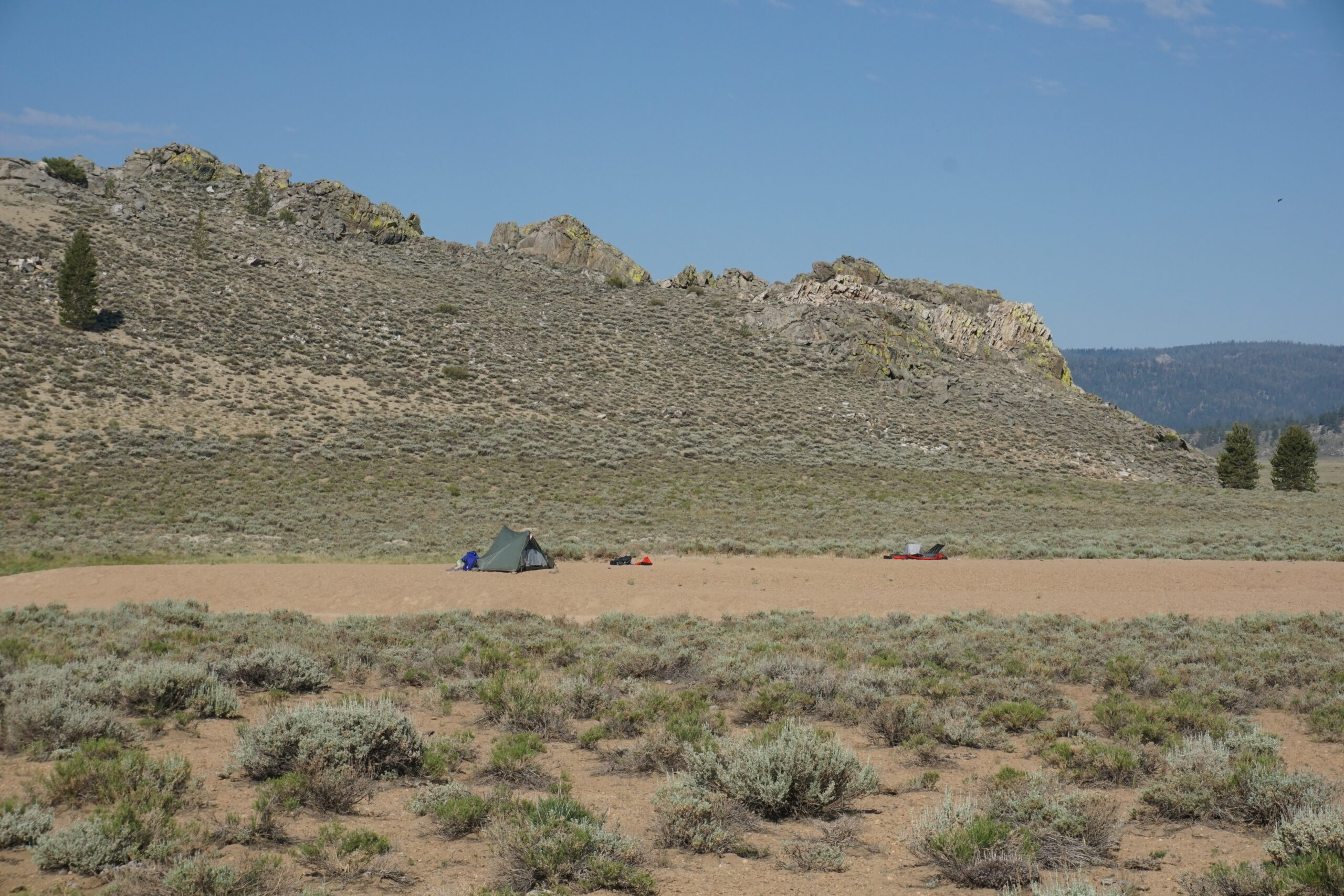 Campsite on the Pacific Crest Trail
