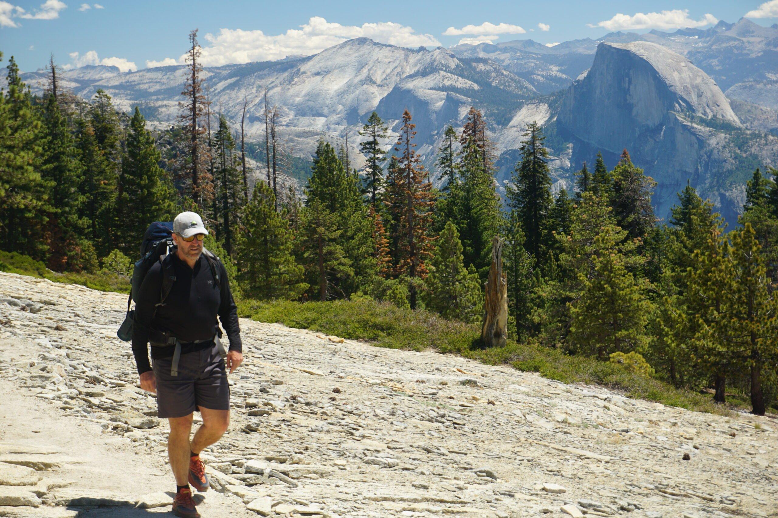 Keith Robinson nears the top of El Capitan in Yosemite National Park