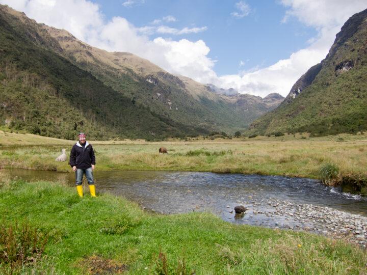 Dave in Las Cajas National Park, Ecuador