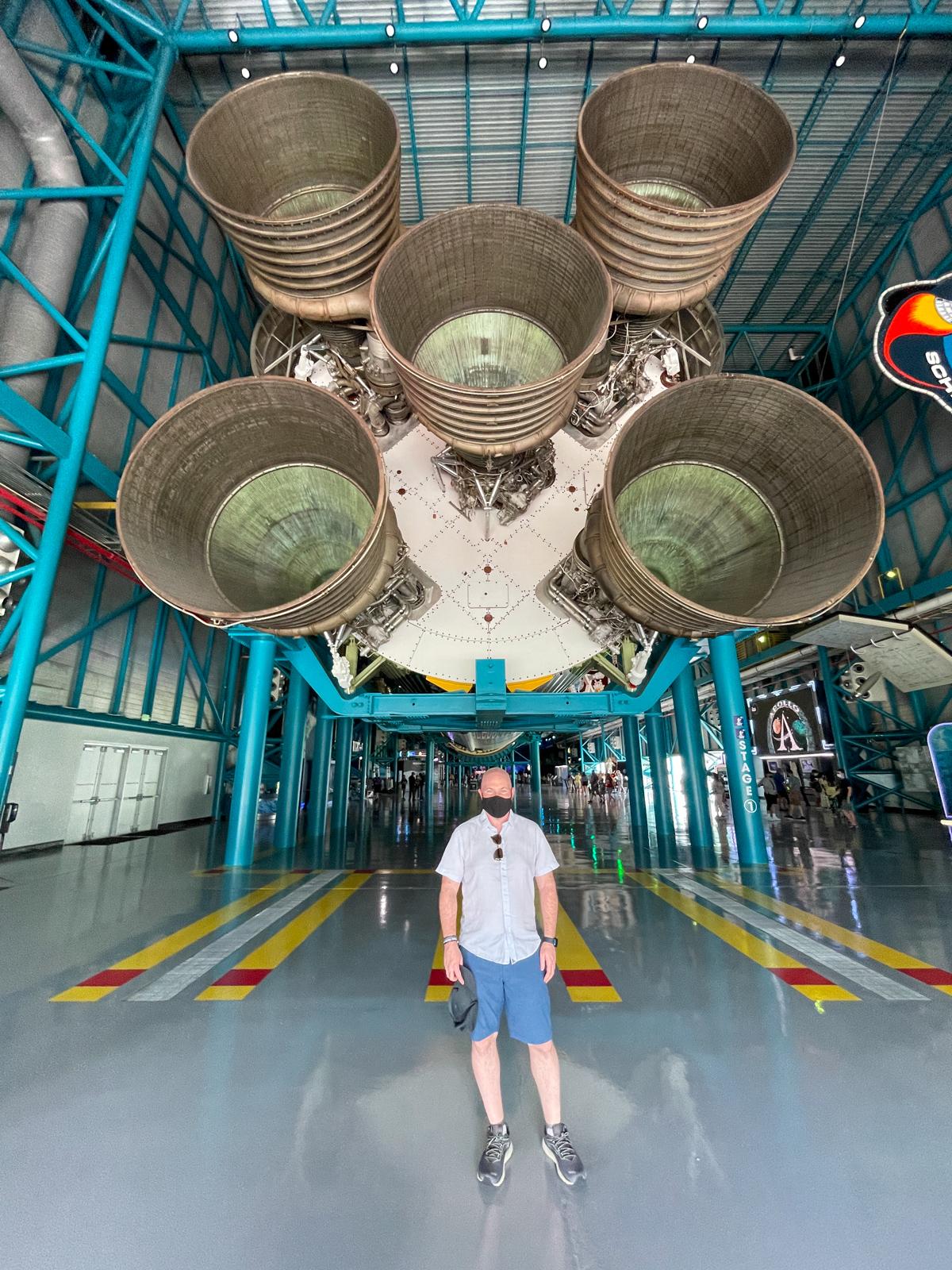 Dave under Saturn V engines