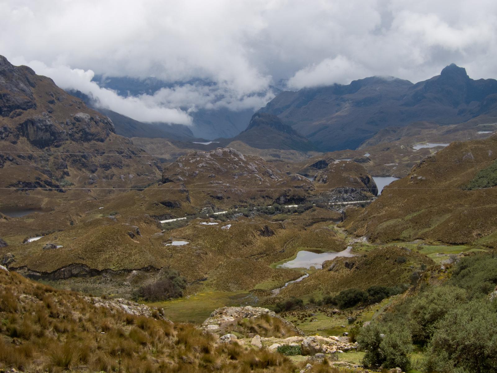 View of El Cajas National Park from 4,100 meters