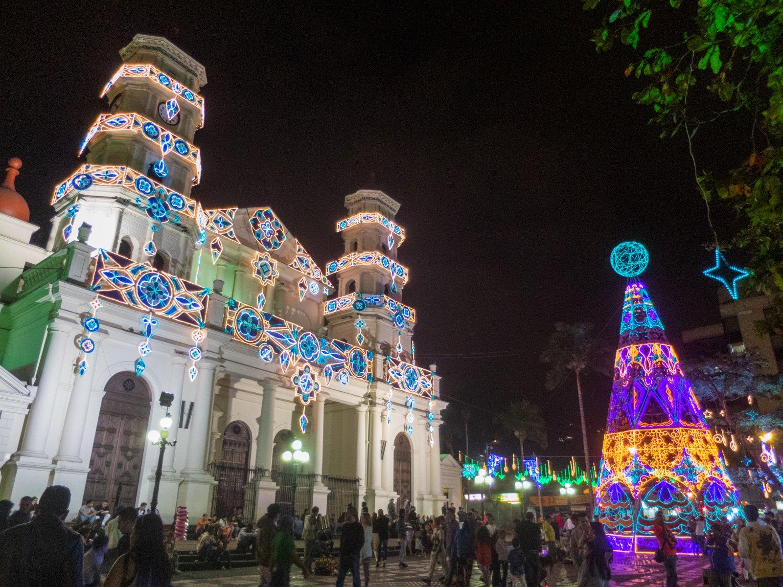 Christmas lights in Envigado