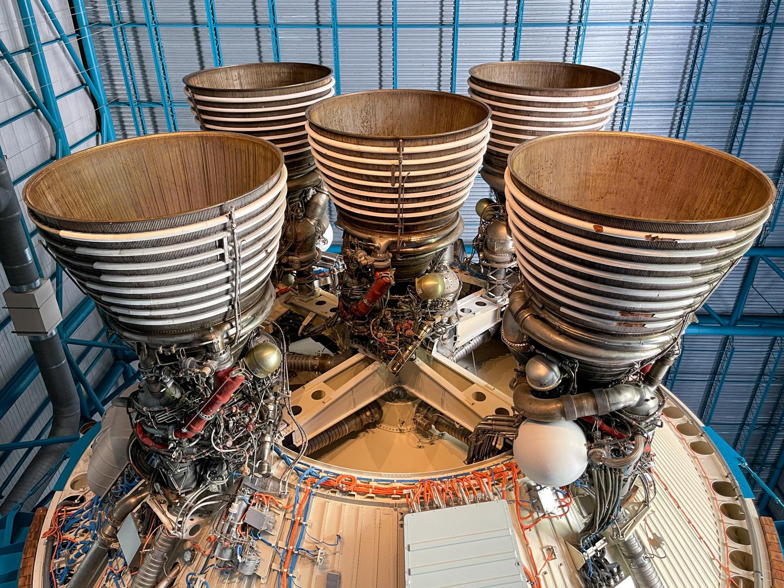 Second stage of Saturn V rocket