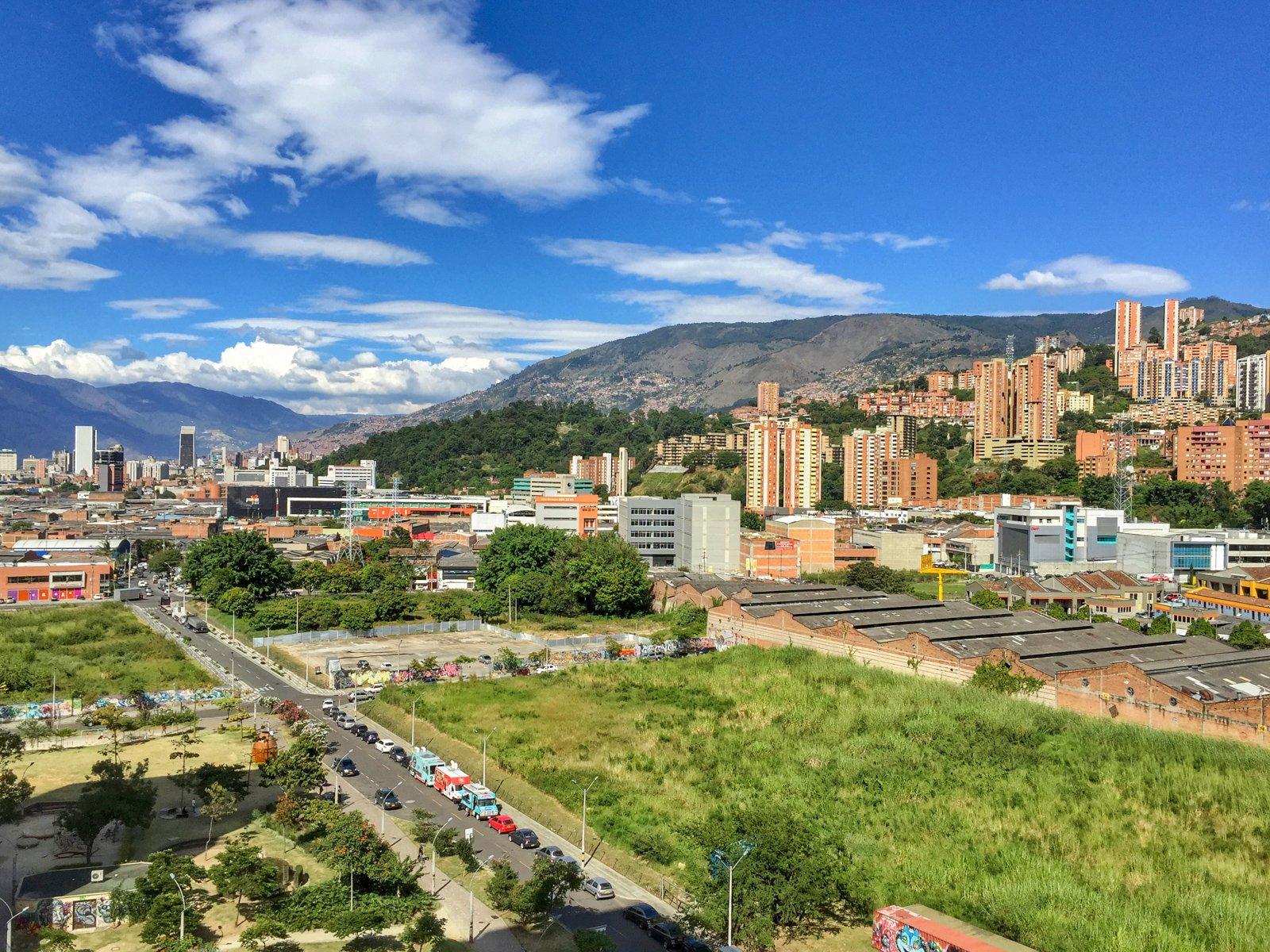 View from my last apartment in Ciudad del Rio, Medellin