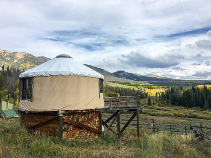 Yurt in Colorado state park