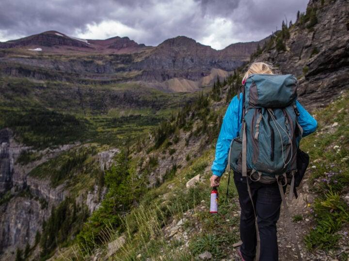 Hiking with bear spray (photo: GlacierNPS)