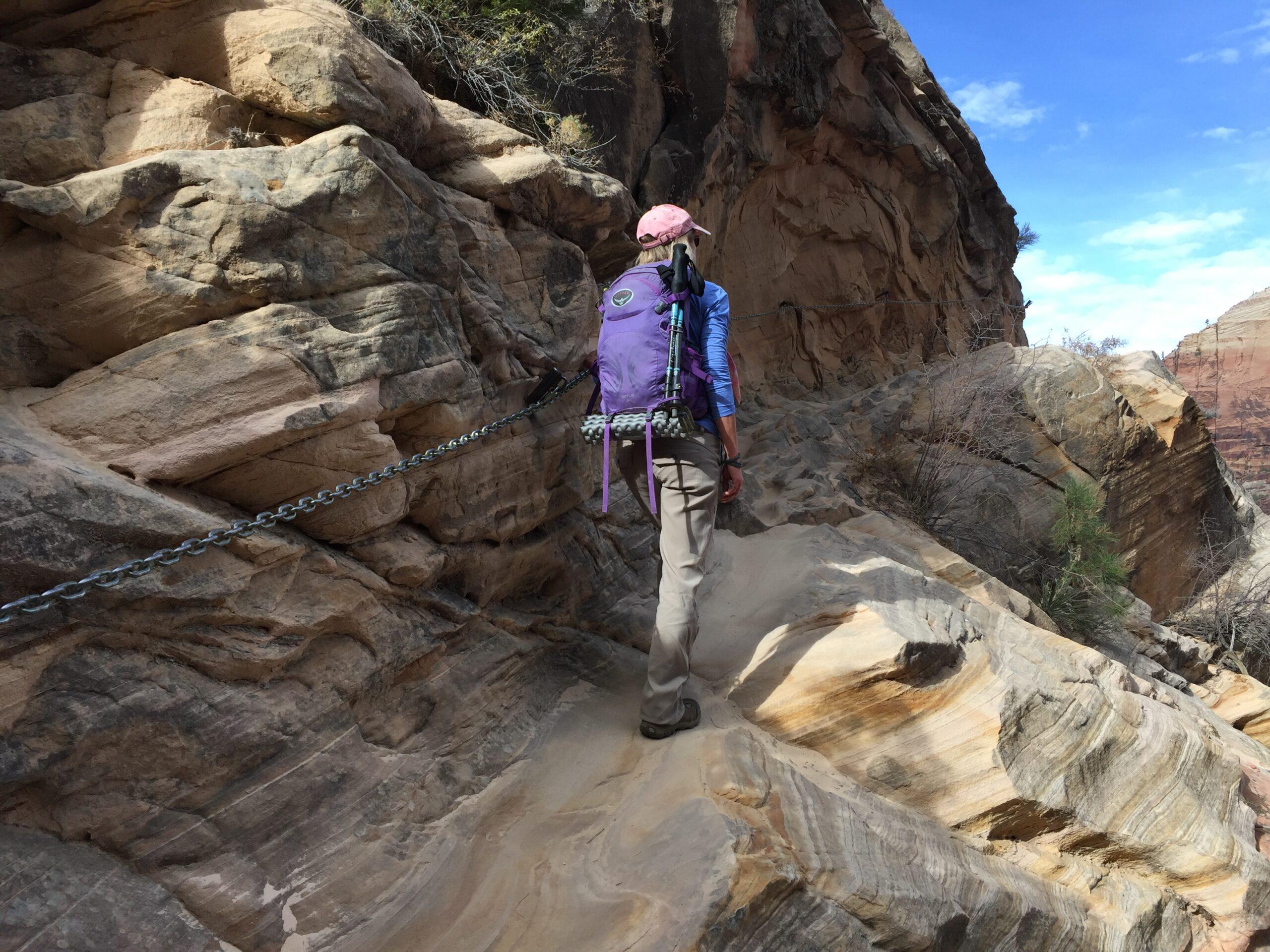 Hiking Hidden Canyon Trail in Zion.